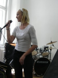 Student 2 performing in Oradea