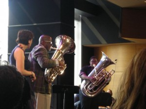 Kate McGarry, Bob Stewart and Chanell Crichlow at Dizzy's