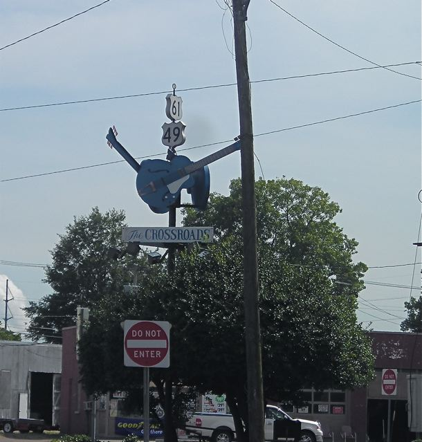 Fabled blues crossroads, Clarksdale, Mississippi