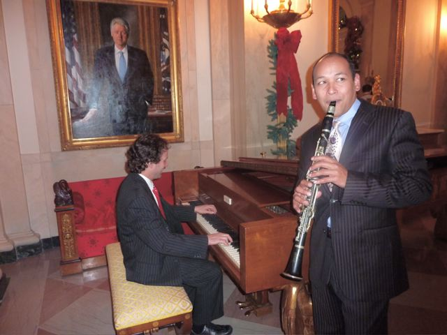 Eli Yamin and Evan Christopher play Sophisticated Lady at the White House