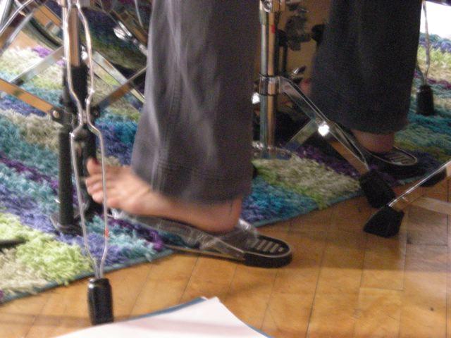Tiffany's left foot