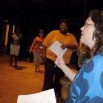 Teaching Artist Sonya Robinson kicks off Nora's Ark Workshop
