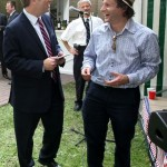 U.S. Ambassador to Russia, Michael McFaul and pianist and band leader Eli Yamin