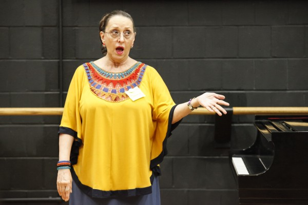 Jeannette LoVetri at The Jazz Drama Program's Summer Jazz Arts Institute at Lehman College, City University of New York (photo by Ayano Hisa)