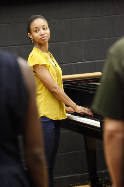 Cindy Hospedales at The Jazz Drama Program's Summer Jazz Arts Institute at Lehman College, City University of New York (photo by Ayano Hisa)