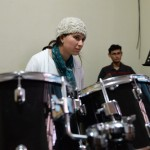Drummer Sofi Kuba sits in with EYQ