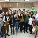 Eli Yamin Quartet with students at Innato