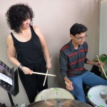 LaFrae works with drummers at Innato